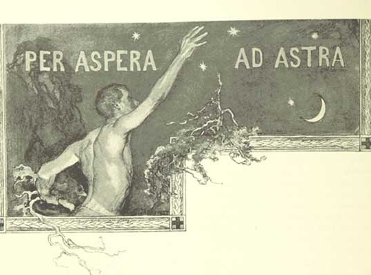 Per aspera ad astra (μεσα απο δυσκολιες θα φθασουμε στ' αστερια)